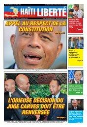 L'odieuse décision du juge carves doit être renversée ... - Haiti Liberte