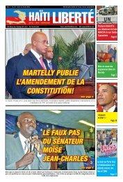 MarteLLy pubLie L'aMendeMent de La Constitution! - Haiti Liberte