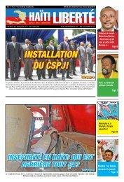 InstallatIon du csPJ! - Haiti Liberte