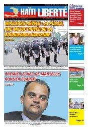Wikileaks révèle : la police, une milice privée de la ... - Haiti Liberte