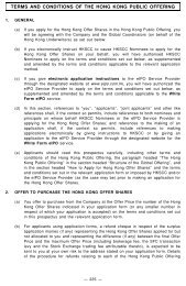 Terms and conditions of the Hong Kong Public Offering - Haitian