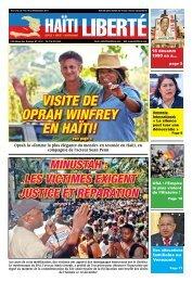 vISITe de oprAH WINfrey eN HAïTI! - Haiti Liberte