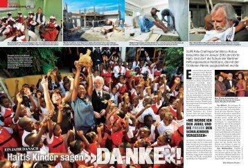 NIE WERDE ICH DEN JUBEL UND DIE FREUDE ... - Haiti-Care e.V.
