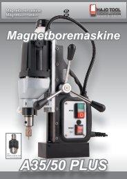 A35/50 PLUS Magnetboremaskine - HAJO TOOL A/S