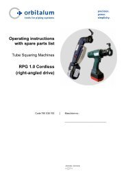 RPG 1.0 Cordless - Technical Tool Solutions