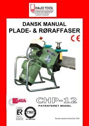 Manual for CHP12 - HAJO TOOL A/S