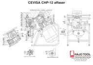 CEVISA CHP-12 affaser Reservedele - HAJO TOOL A/S