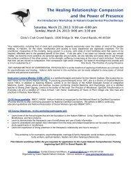Download: Flyer - Hakomi Institute