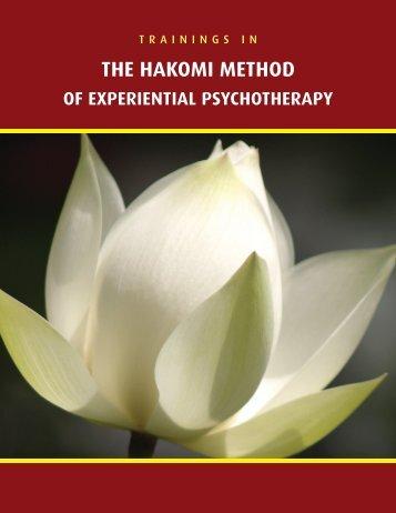 Comprehensive Training Brochure - Hakomi Institute
