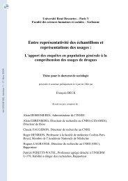 représentativité des échantillons et représentation des usages: l ...