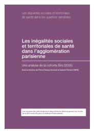 Les inégalités sociales et territoriales de santé dans l ... - HAL