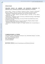 WISE-2005: effect of aerobic and resistive exercises on orthostatic ...