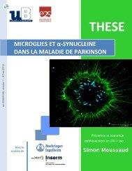 Etude de l'implication des cellules microgliales et de l'α-synucleine ...