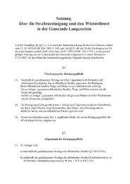 Satzung über die Straßenreinigung und den ... - Halberstadt