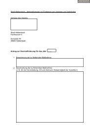 Antragsformular Vereinsförderung - Halberstadt