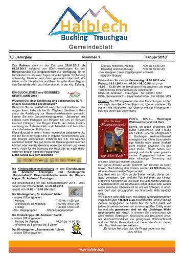 Publikation Januar 2013.pub - in der Gemeinde Halblech