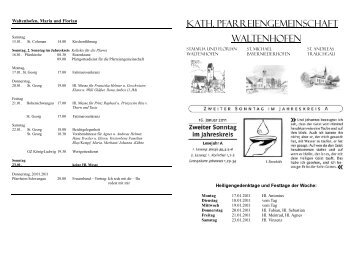 KATH. PFARREIENGEMEINSCHAFT WALTENHOFEN - Halblech