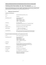 Verbraucherinformation für den Fernabsatz ... - Fondsvermittlung24.de