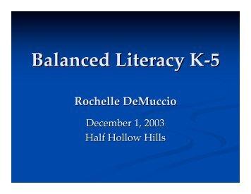 Balanced Literacy K-5 - Half Hollow Hills
