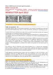 NEWSLETTER April 2012 - Bühler Concept AG