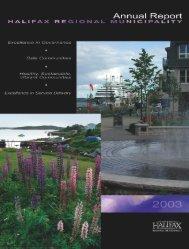 Annual Report 2003 - Halifax Regional Municipality