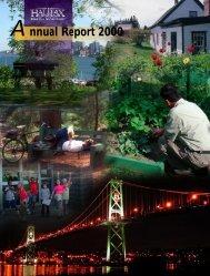 Annual Report 2000 - Halifax Regional Municipality