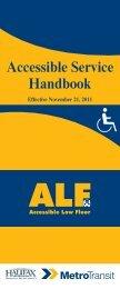 New Accessible Service Handbook - Halifax Regional Municipality