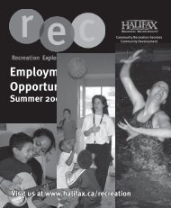 Application Deadlines - Halifax Regional Municipality