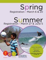 Recreation Program Catalogue - Halifax Regional Municipality