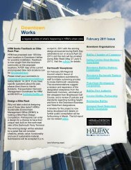 HRM Downtown Newsletter - Issue #6, February, 2011 - Halifax ...
