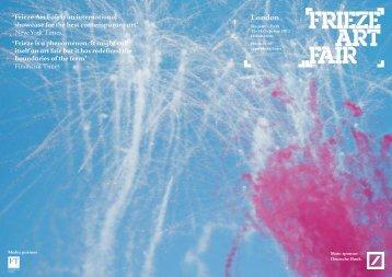 Frieze Publications - London Calling