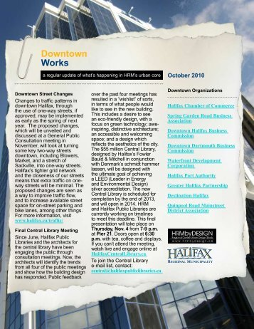 HRM Downtown Newsletter - Issue #3, October 2010 - Halifax ...
