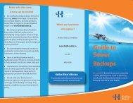 Sewer Backup Brochure no recycling logo