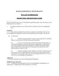 By-law B-201 - Halifax Regional Municipality