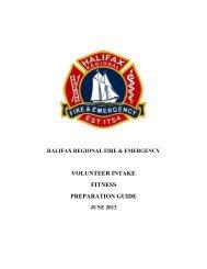 volunteer intake fitness preparation guide - Halifax Regional ...