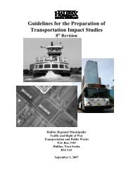 Guidelines for the Preparation of Transportation Impact Studies - 8th ...