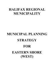 Eastern Shore (West) Municipal Planning Strategy - Halifax ...