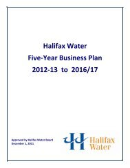 Halifax Water Five-Year Business Plan 2012-13 to 2016/17