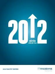 2012 Faaliyet Raporu - Türkiye Halk Bankası