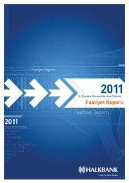Konsolide III. Dönem 2011 Faaliyet raporu - Türkiye Halk Bankası