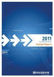 2011 III. Ara Dönem Faaliyet Raporu - Türkiye Halk Bankası