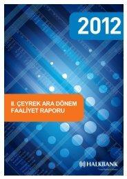 2012 II. Dönem Faaliyet Raporu - Türkiye Halk Bankası
