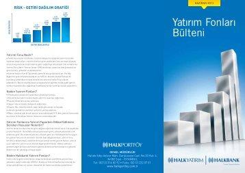 2013 Haziran Yatırım Fonları Bülteni - Türkiye Halk Bankası