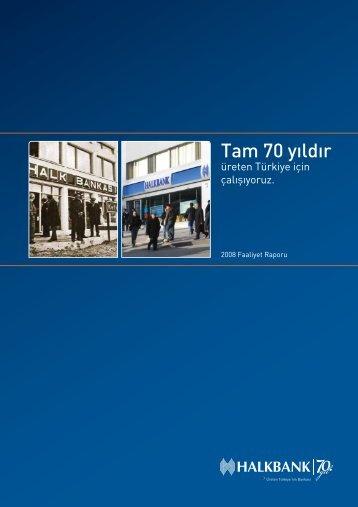 2008 Faaliyet Raporu - Türkiye Halk Bankası