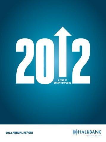 HALKB ANK 2012 ANNUAL REPORT - Türkiye Halk Bankası
