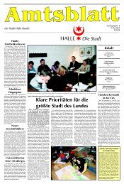 Amtsblatt 09 vom 09.05.2001 - Stadt Halle (Saale)