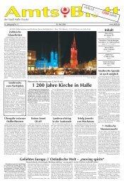 Amtsblatt 09 vom 10.05.2006 - Stadt Halle (Saale)