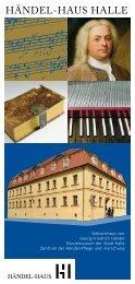 Imagebroschüre Händel-Haus Halle - Stadt Halle (Saale)