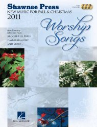 NEW MUSIC FOR FALL & CHRISTMAS - Hal Leonard