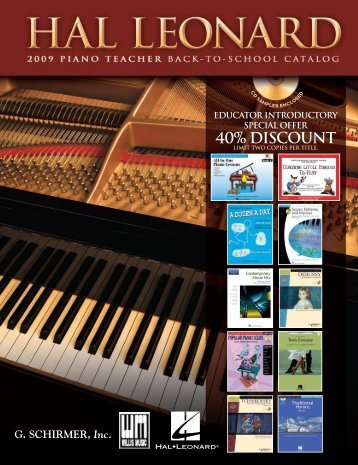 40% Discount - Hal Leonard